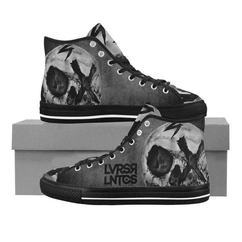 Nightmare Skull High Tops Canvas Shoes - Men's--LOVERS ARE LUNATICS UK