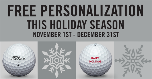 Titleist Holiday Personalized Golf Balls