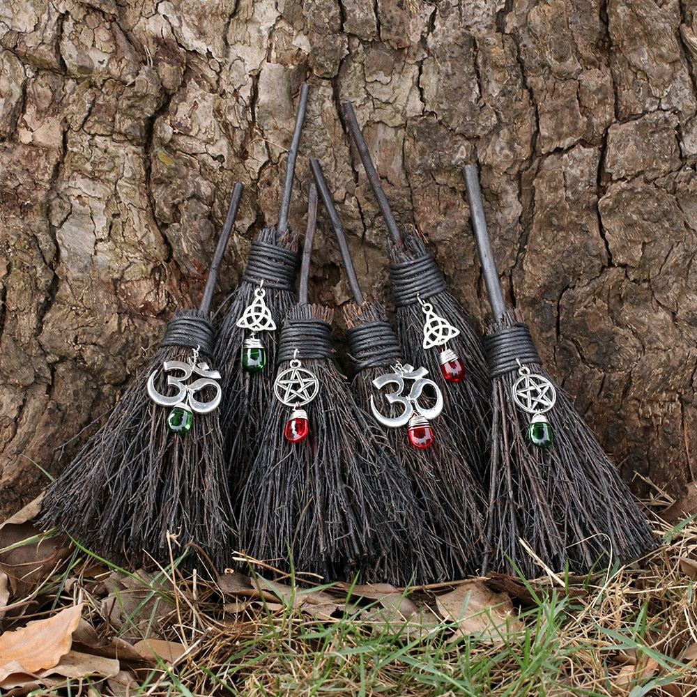 The Black Mini Wiccan Altar Besom