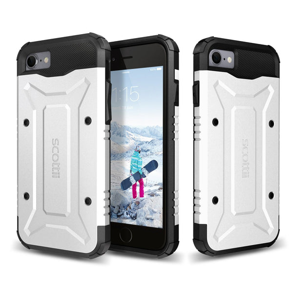 Soft, shock-absorbing TPU interior and rugged, stylish PC plate back Apple iPhone 7 Phone Case
