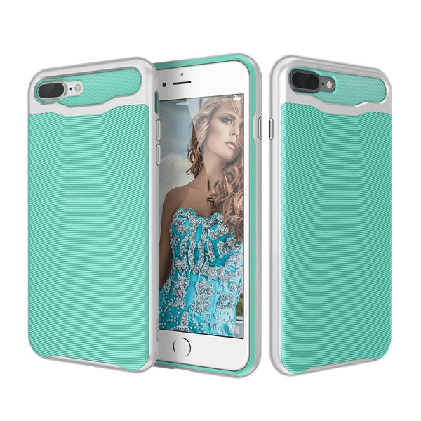 Dynamically patterned TPU back with a sturdy, stylish Polycarbonate frame Apple iPhone 7 Plus Phone Case