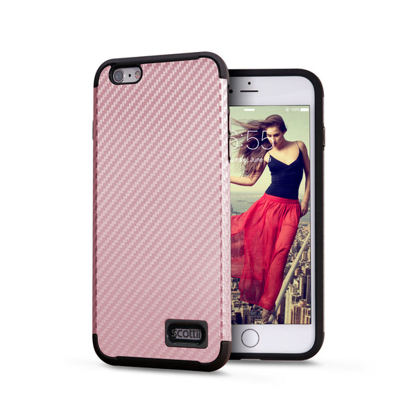 Full Carbon Fiber Polycarbonate and Thermo Polyurethane iPhone 6 Plus and 6s Plus case