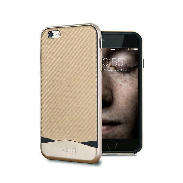 Elegant Carbon Fiber Thermo Polyurethane TPU with Polycarbonate PC Frame iPhone 6 and 6s case