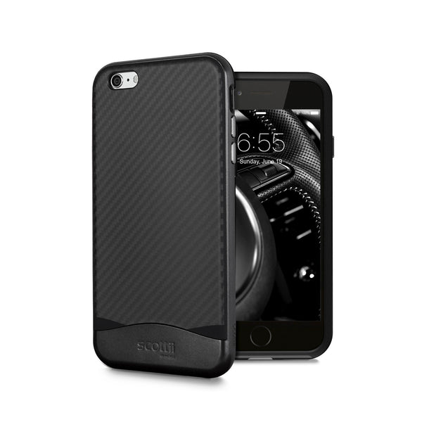 Elegant Carbon Fiber Thermo Polyurethane TPU with Polycarbonate PC Frame iPhone 6 Plus and 6s Plus case