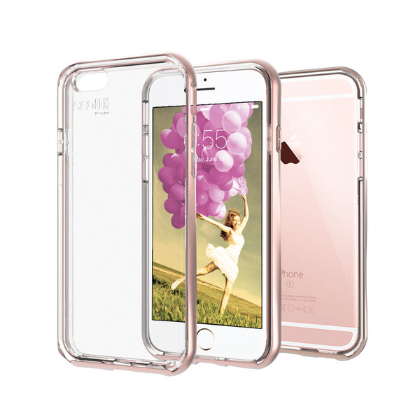 Crystal Clear Thermo Polyurethane back with a beautiful Polycarbonate frame iPhone 6 & 6s Phone Case