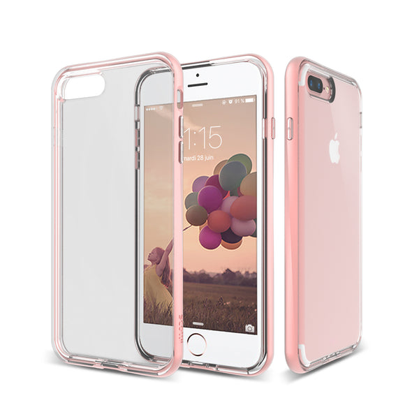 Crystal Clear Thermo Polyurethane back with a beautiful Polycarbonate frame iPhone 7 Plus Phone Case