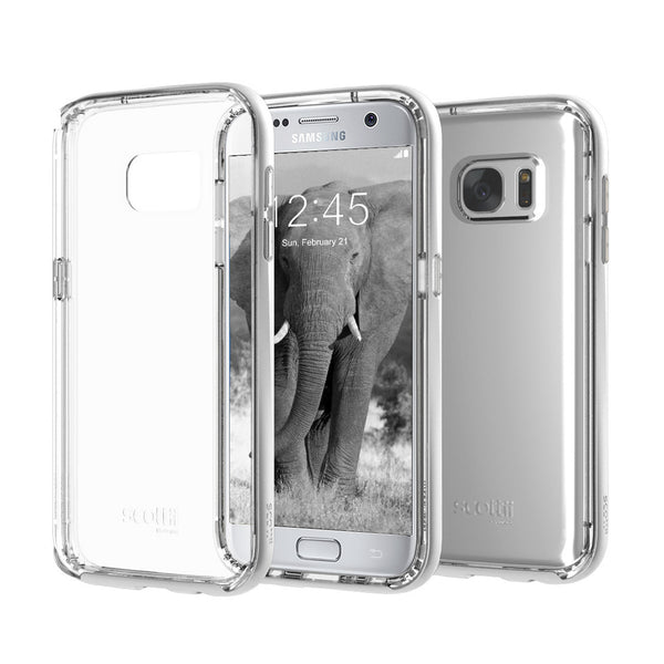 Crystal Clear Thermo Polyurethane back with a beautiful Polycarbonate frame Galaxy S7 Phone Case