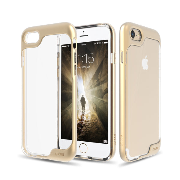Crystal Clear Thermo Polyurethane back with a stylish Polycarbonate frame iPhone 7 Phone Case