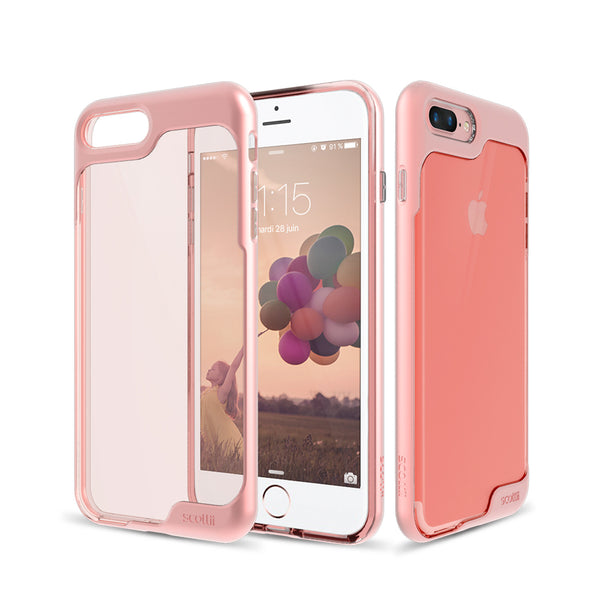 Crystal Clear Thermo Polyurethane back with a stylish Polycarbonate frame iPhone 7 Plus Phone Case