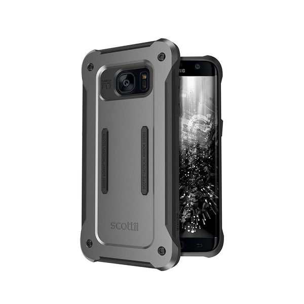 Soft, shock-absorbing TPU interior and rugged, stylish PC plate back Samsung Galaxy S7 Edge Phone Case
