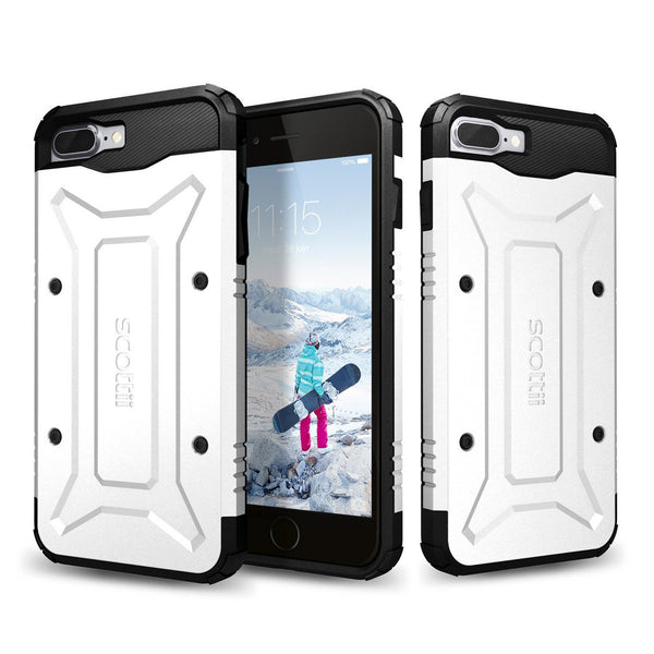 Soft, shock-absorbing TPU interior and rugged, stylish PC plate back Apple iPhone 7 Plus Phone Case