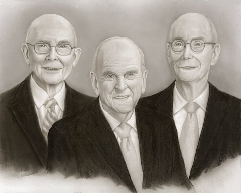 Tim Bird - First Presidency - Russell M. Nelson, Dallin H. Oaks, Henry B. Eyring - 2019