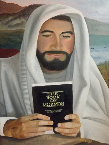 Christ and the Book of Mormon - Various Sizes - by Nathan Buhler