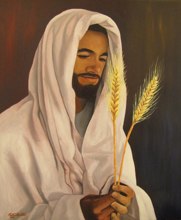 Christ With Wheat and Tare - Various Sizes - by Nathan Buhler