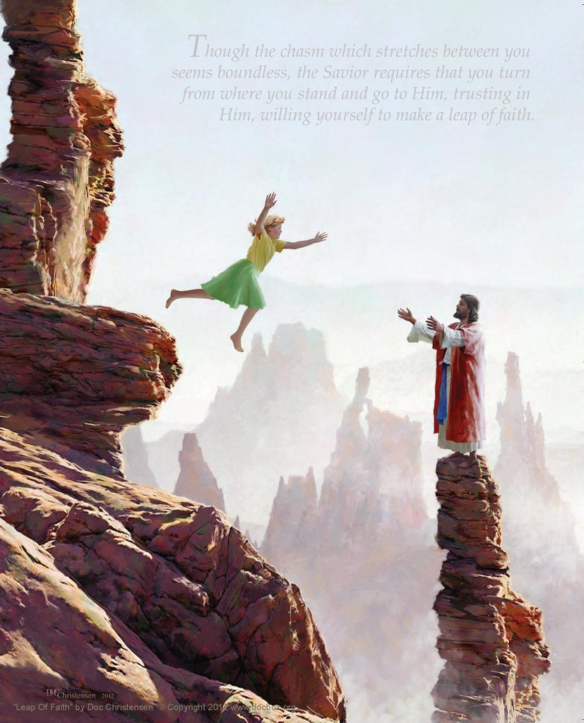 Leap of Faith by Doc Christensen 11x14, 8x10 or Postcard Size