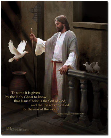 Christ and the Dove by Doc Christensen