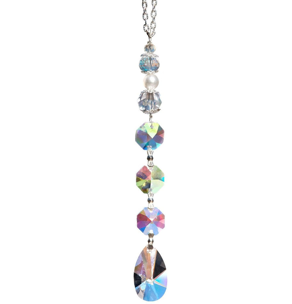 1.25 in Clear Oval Crystal Suncatcher