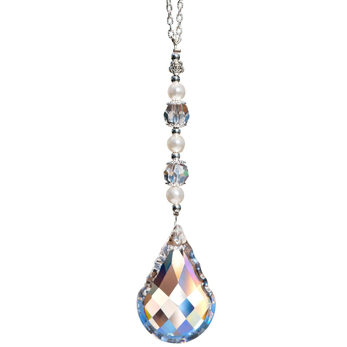 2 in Clear Crystal Round French Cut Suncatcher