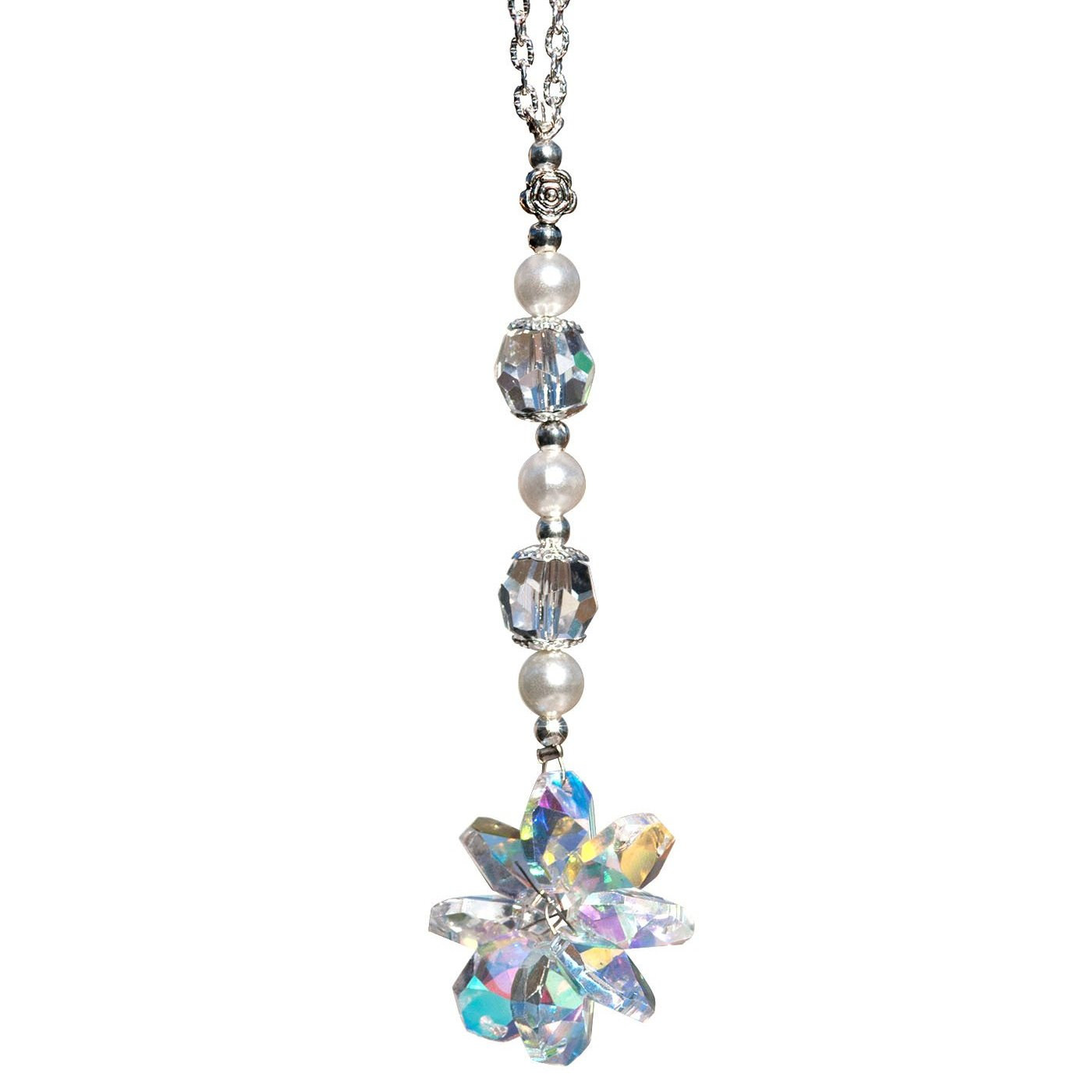 Clear Crystal Flower Suncatcher