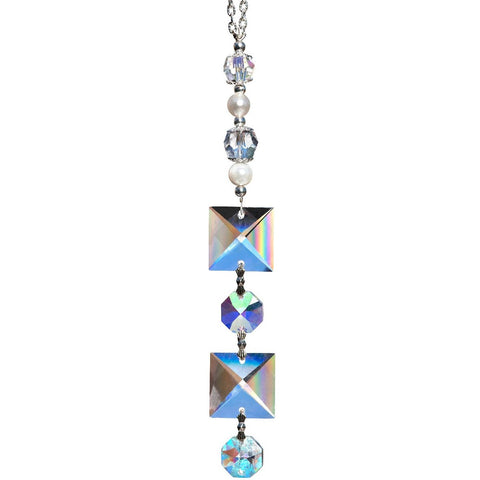 Clear Square Crystal Suncatcher