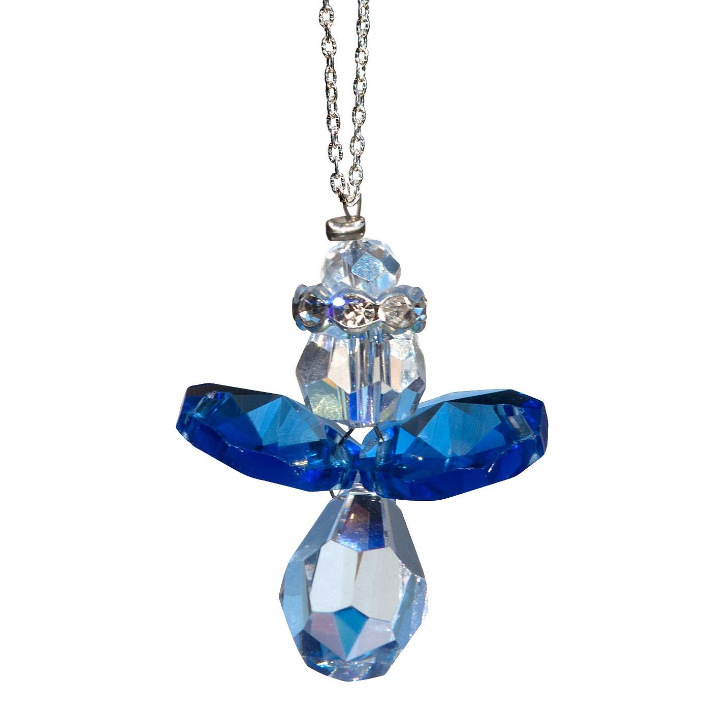 Blue Angel Crystal Suncatcher