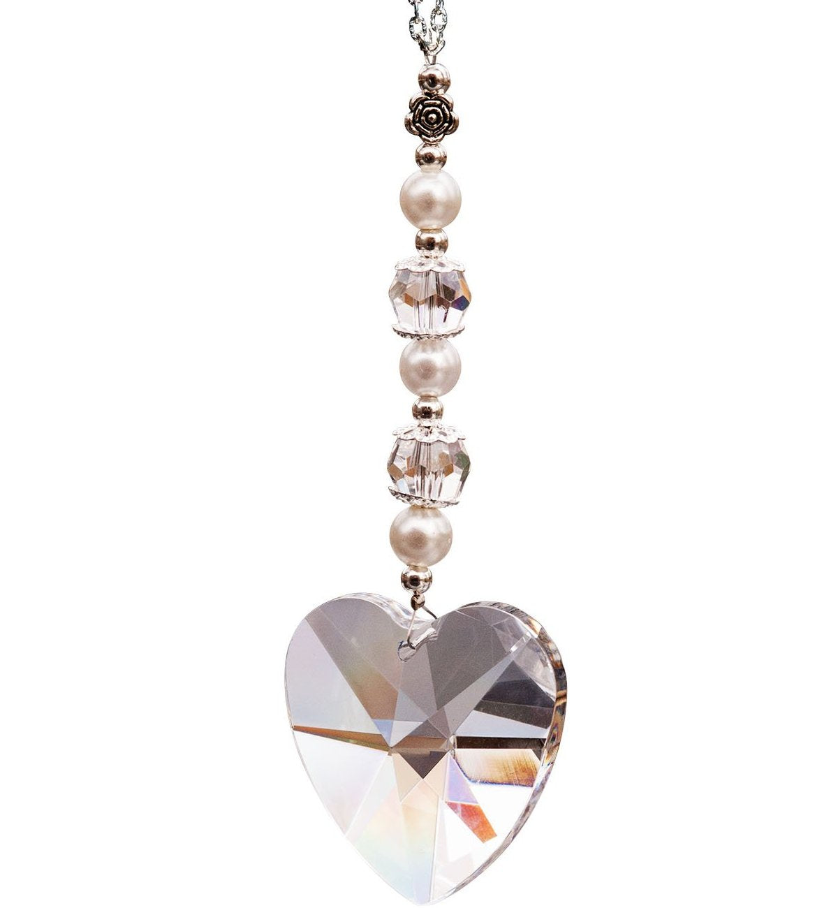 40 mm Clear Crystal Heart Suncatcher