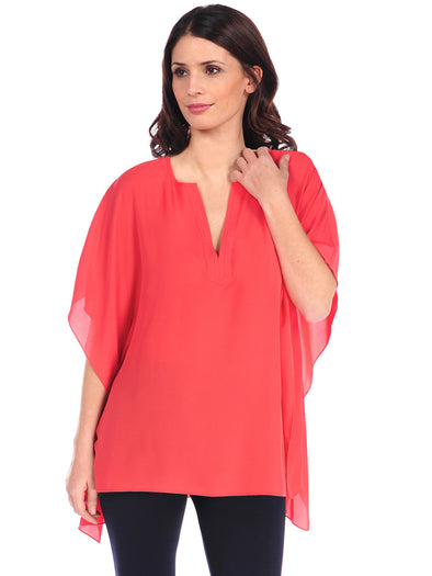 Jackie V-Neck Poncho - FINAL SALE