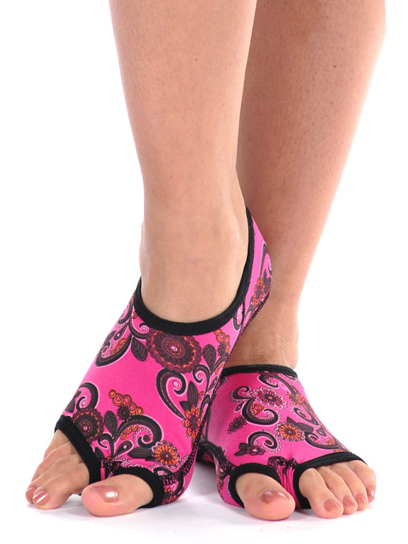 PureToes-Pink Paisley - FINAL SALE