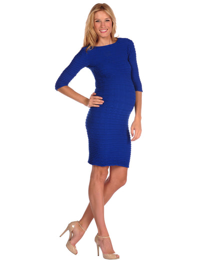 19D-138 Cobalt Crinkle Dress