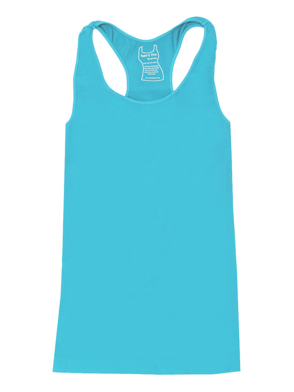 303RB-129 Cabana Blue Racer Back Tank