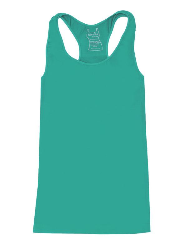 303RB-119 Calypso Green Racer Back Tank
