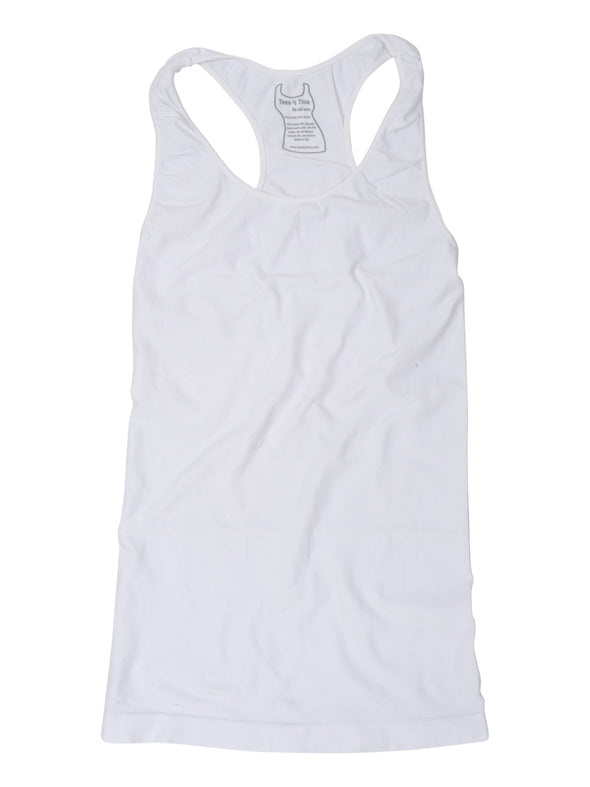 303RB-100 White Racer Back Tank