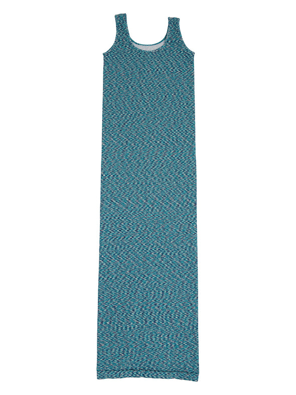 36DM-274 Green/Teal Marled Maxi Dress