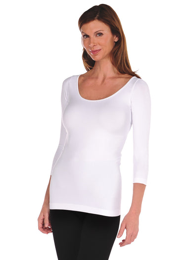 500Q-100 White 3/4 Sleeve