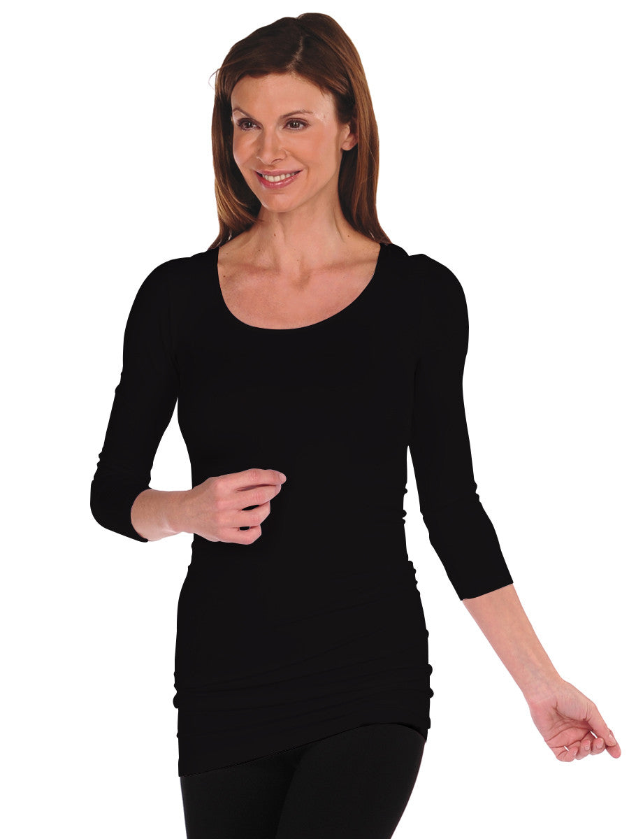 3/4 Sleeve Reversible Tunic Slip Dress