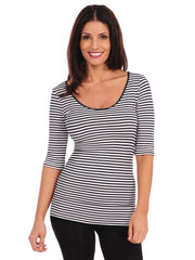 Micro Stripe Reversible Ballet Sleeve