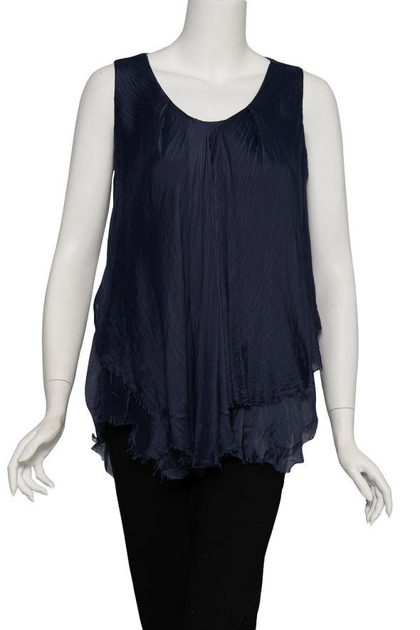 Briana Silk Layered Tank