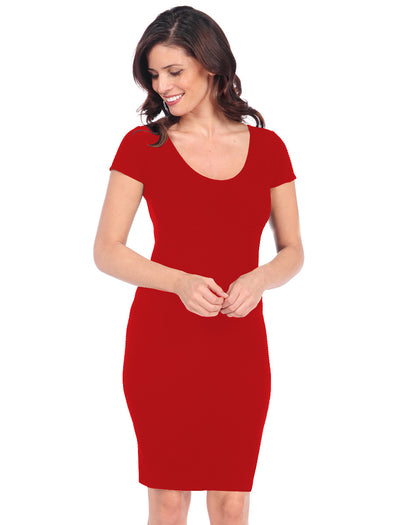 21D-151 Fire Engine Red Bandage Dress
