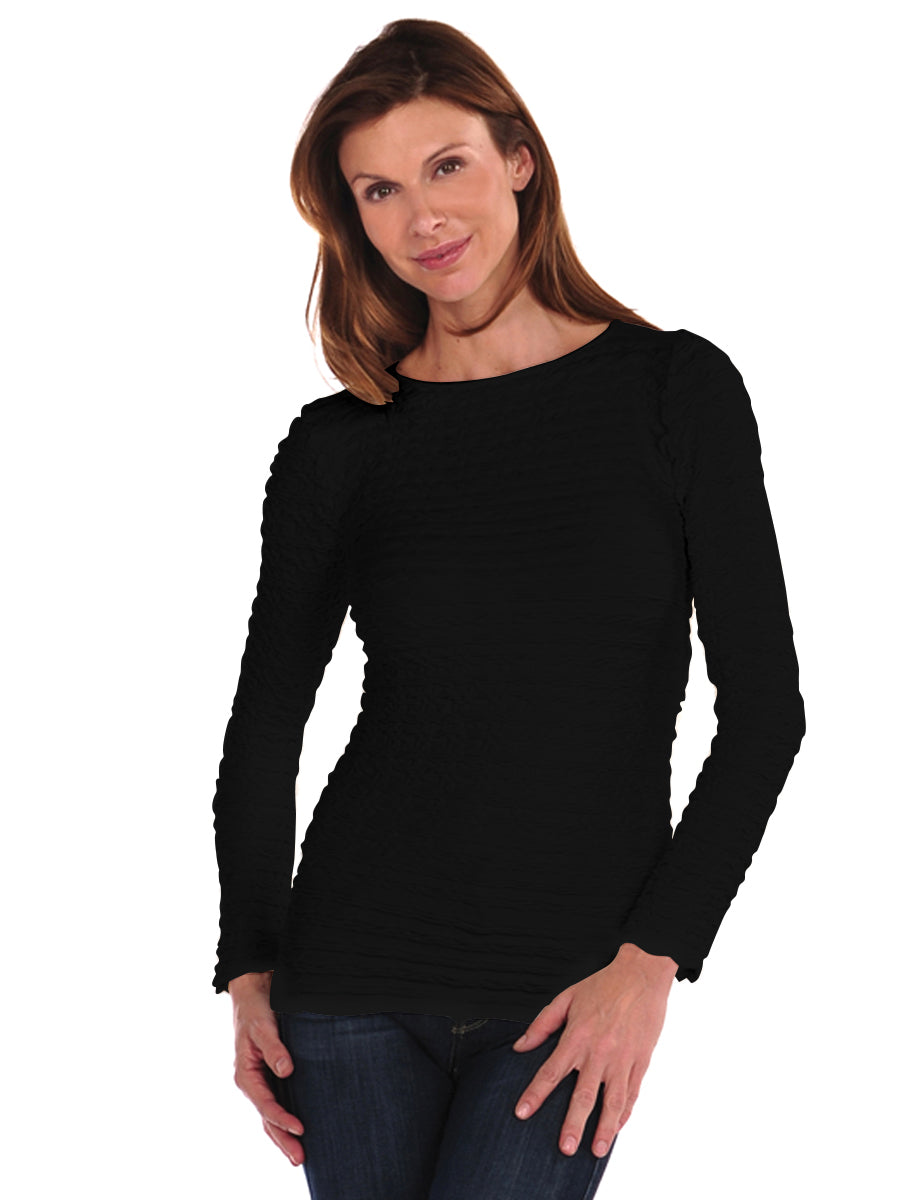 Long Sleeve Crinkle Top