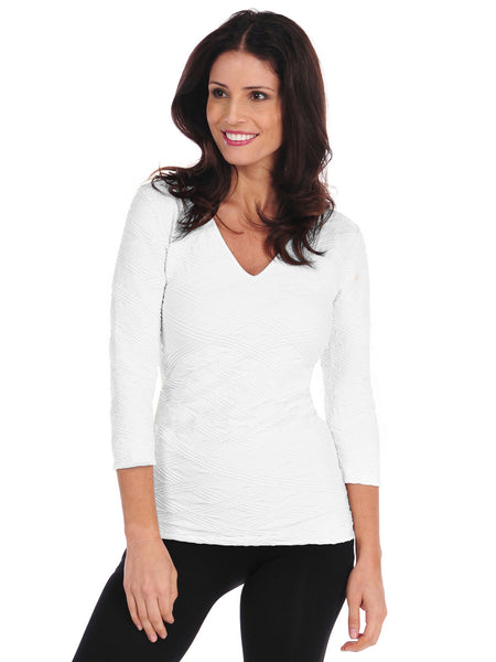 Diamont 3/4 Sleeve V Neck