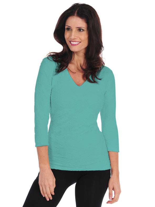 Diamont 3/4 Sleeve V-Neck