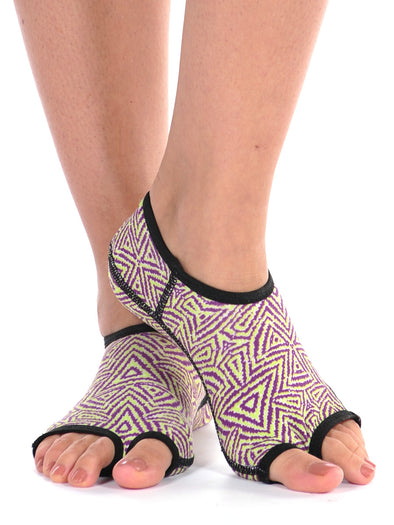 PureToes-Lime/Grape Tribal - FINAL SALE