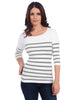 Nautical Stripe 3/4 Sleeve