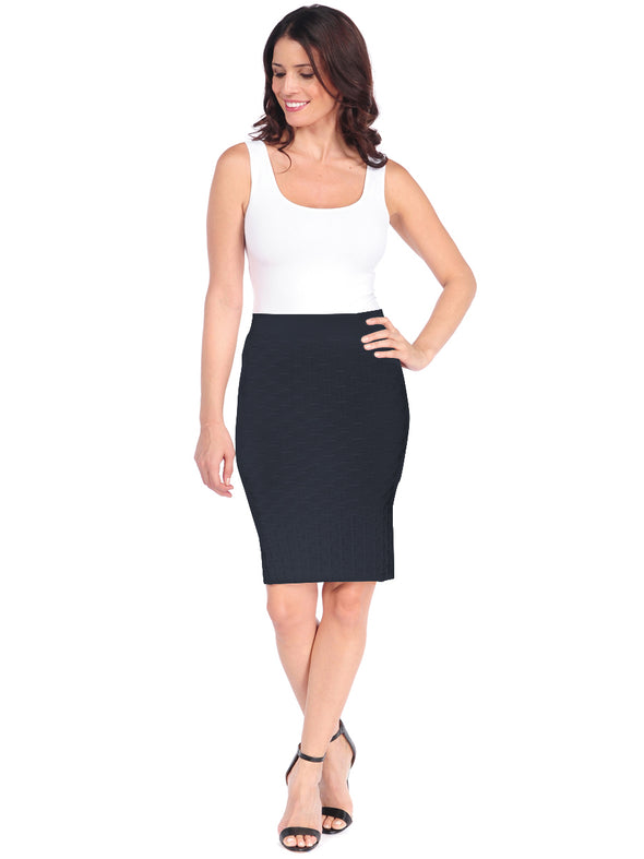 Lattice Pencil Skirt