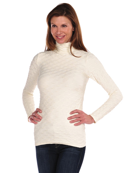 Lattice Mock Neck