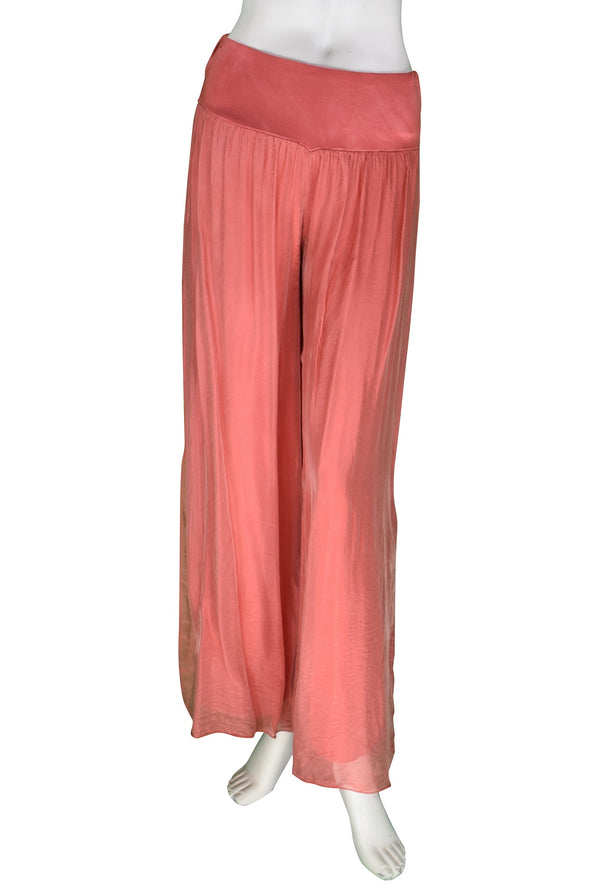 Eva Silk Side Slit Pant