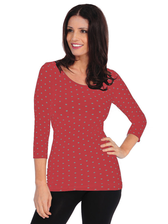 Pin Dot 3/4 Sleeve
