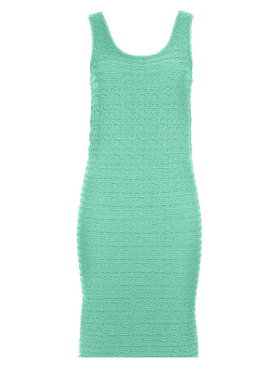 CRINKLE TANK DRESS-MATERNITY