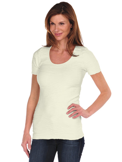 Short Sleeve Wave Top