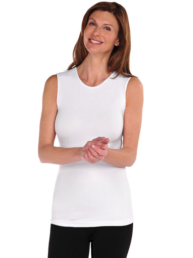 375CN-100 White Sleeveless Crewneck